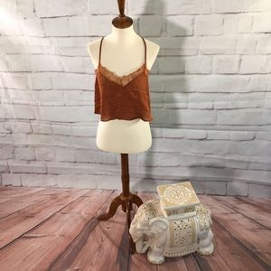 Intimately Free People Rust Lace Lingerie